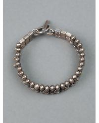 Tobias Wistisen Metallic Chunky Beaded Bracelet for men