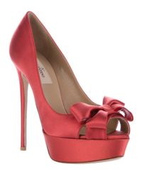 Valentino Red Bow Detail Shoe