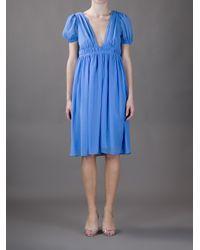 Vanessa Bruno | Blue Empire Line Dress | Lyst