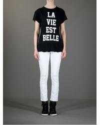 Wildfox Black La Vie Est Belle T-Shirt