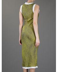 Wunderkind Green Silk Dress