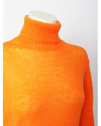 Y-3 Roll Neck Knit Jumper Bright Orange