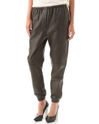 3.1 Phillip Lim | Black Leather Sweatpants | Lyst