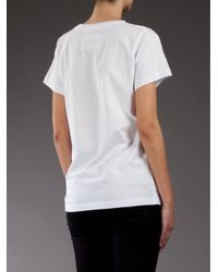 5preview - White Mis Fit T-shirt - Lyst