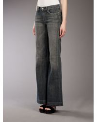 7 For All Mankind - Gray Flared Jean - Lyst