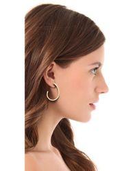 Adia Kibur - Green Enamel Hoop Earrings - Lyst