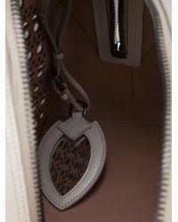 Alaïa White Perforated Leather Bag