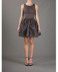 Alaïa Brown Printed Skater Dress