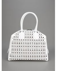 Alaïa White Perforated Leather Bag