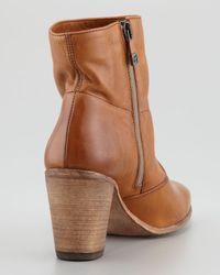 Alberto Fermani Brown Diva Leather Ankle Boot Cuoio