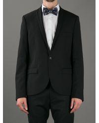 Alexander McQueen Blue - Skull Patterned Bow Tie - Men - Silk - One Size for men