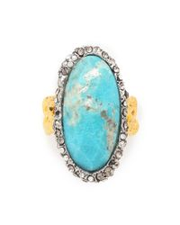 Alexis Bittar Blue Cordova Chain Link Ring