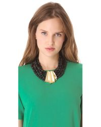 Alexis Bittar | Black Crystal Embellished Lucite Swan Collar Necklace 12 | Lyst