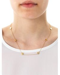 Alison Lou - Metallic Diamond and Gold Smiley By The Yard Necklace - Lyst