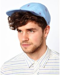 ASOS - Blue 5 Panel in Aztec Fabric for Men - Lyst