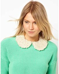 ASOS | Natural Pearl Peter Pan Collar | Lyst