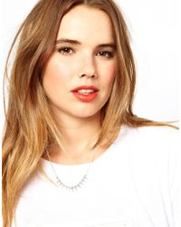 ASOS | Metallic Mini Spike Choker Necklace | Lyst