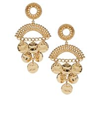 Baum und Pferdgarten | Metallic Asos Coin Detail Chandelier Earrings | Lyst