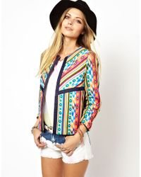 ASOS - Multicolor Jacket in Bright Mixed Print - Lyst
