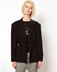 Back by Ann-Sofie Back Black Back By Ann-Sofie Back Boxer Jacket With Statement Shoulders