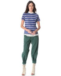 Band of Outsiders Green Tapered Leg Pants