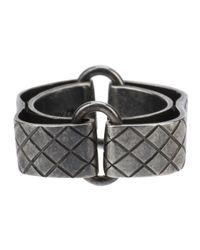 Bottega Veneta | Metallic Curved Embossed Ring for Men | Lyst