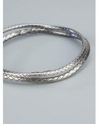 Bottega Veneta - Metallic Woven Bracelets - Lyst