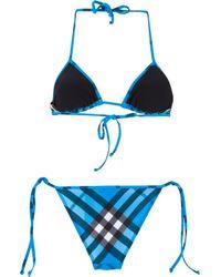 Burberry Blue Nova Check Bikini