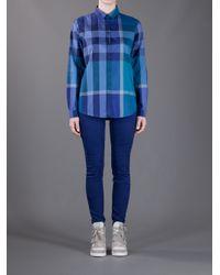 Burberry Blue Nova Check Shirt