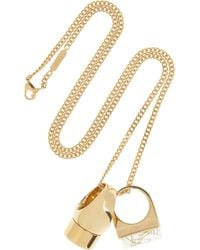 Chloé - Metallic Bettina Gold-Tone Resin Necklace - Lyst