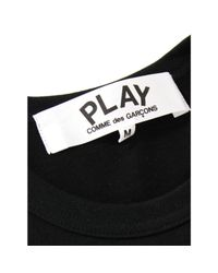 Comme des Garçons Play Mens Logo Printed T-shirt Black for men