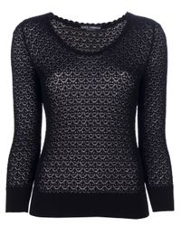 Dolce & Gabbana | Black Lace Sweater | Lyst