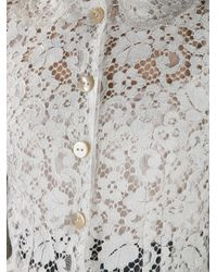 Dolce & Gabbana White Lace Skirt Suit