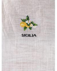 Dolce & Gabbana White Embroidered Sicilia Vest Top