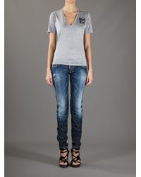 DSquared² | Blue Distressed Jean | Lyst