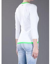 DSquared² White Trim Detail Top