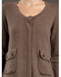 Duffy | Brown Knit Cardigan | Lyst