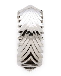 Eddie Borgo Metallic Overlapping Triangle Bracelet