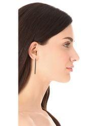 Elizabeth and James - Black Berlin Linear Post Earrings - Lyst