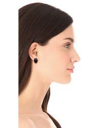 Elizabeth and James | Black Berlin Oval Cabochon Stud Earrings | Lyst