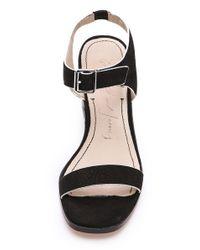 Elizabeth and James - Black Ryann Low Heel Sandals - Lyst