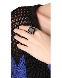 Elizabeth and James Metallic Bird Claw Ring with Onyx