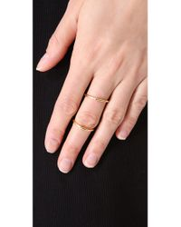 Elizabeth and James - Metallic Miro Knuckle Ring - Lyst
