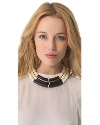 Elizabeth and James - Black Shaman Beaded Necklace - Lyst