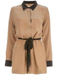 Equipment | Brown Silk Shirt Dress | Lyst