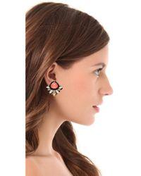 Erickson Beamon - Pink Pretty in Punk Stud Earrings - Lyst