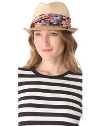 Eugenia Kim Natural Craig Trilby Hat