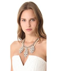 Fallon - Metallic Forever Regalia Bib Necklace - Lyst