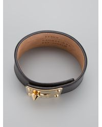 Fendi - Metallic Leather Cuff - Lyst