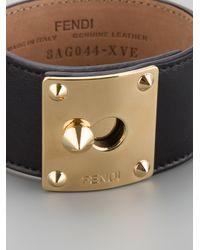 Fendi Metallic Leather Cuff